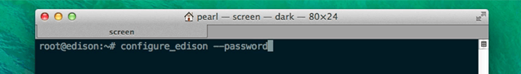 Using configure_edison --password