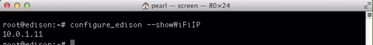 Using the --showWiFiIP option