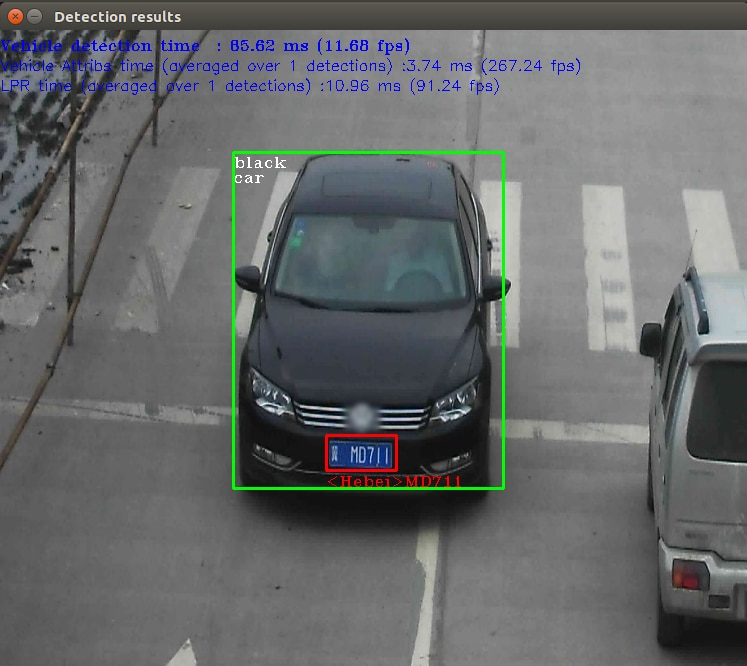 a car detected with traffic camera