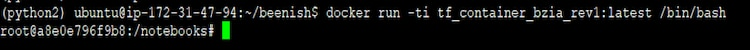 run latest docker example