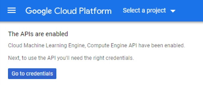 APIs are enabled screenshot