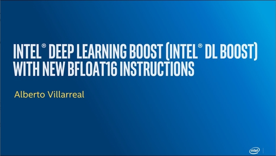 intel deep learning boost with new b float 16 instructions