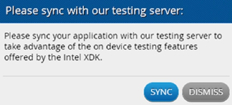 syncing with test server