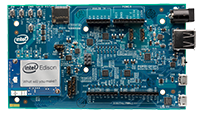 The Arduino* expansion board assembled with the Intel® Edison compute module