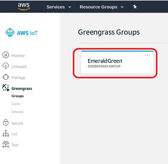 AWS Greengrass Groups View