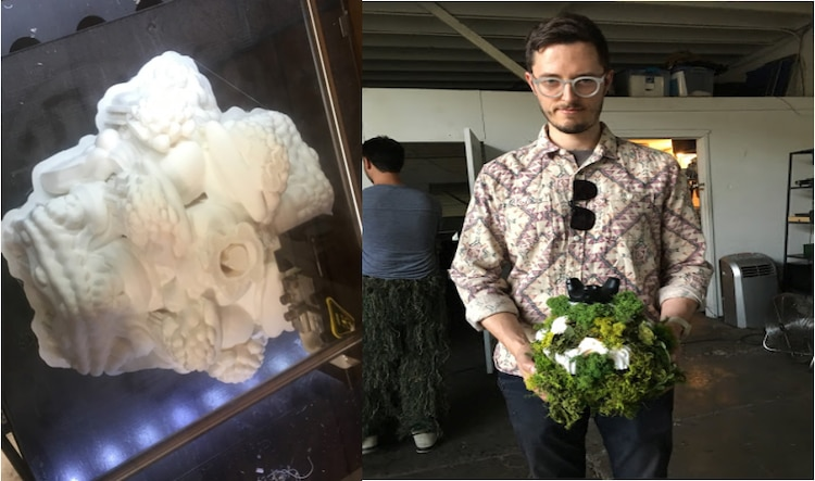 3D-printed Mandelbulb controller and Immersive installation artist Jonathan Fletcher Moore