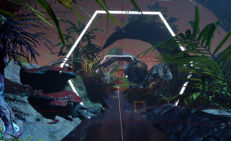Jungle view from inside the game engine