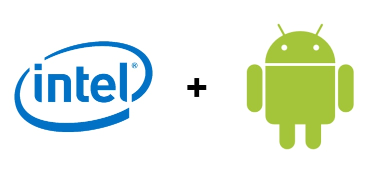 Intel Logo + Android robot