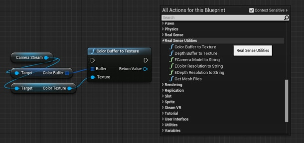 Sample usage of the Color Buffer to Texture function