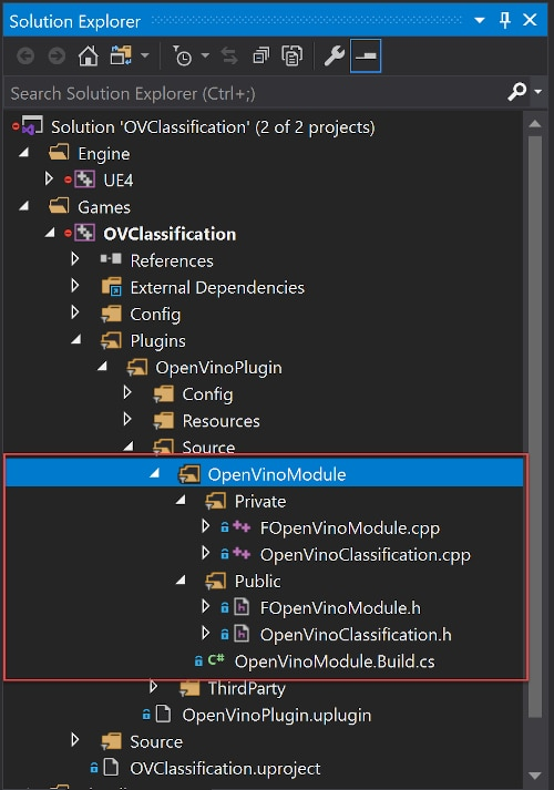 OVClassification OpenVinoModule source code files