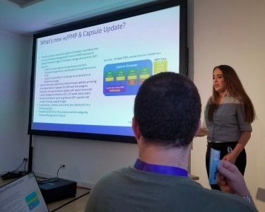 Maggie Jauregui (Intel) – presenter, UDK2018 Security Feature Roundup