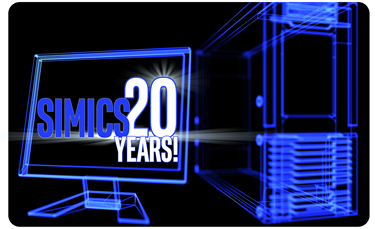 Simics 20 Years rounded corners smaller