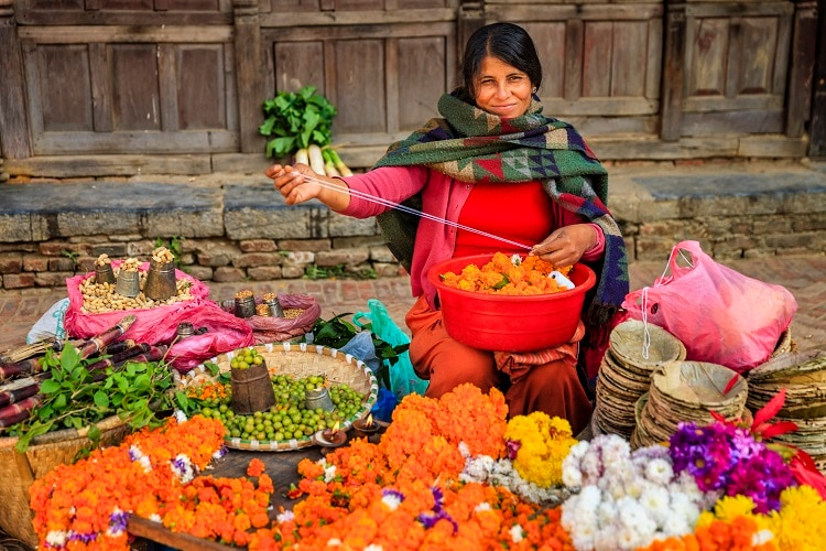 Indian street seller in Kathmandu