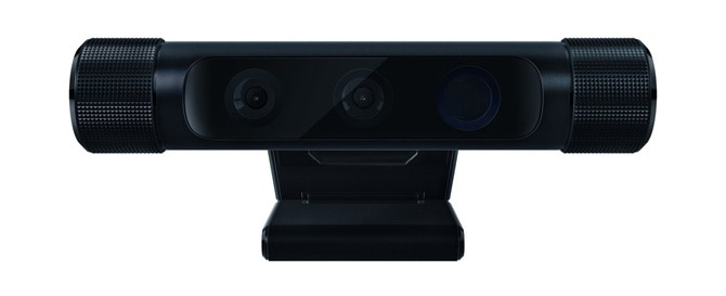 The Razer* Stargazer, which is a third-party version of the Intel® RealSense™ camera SR300.