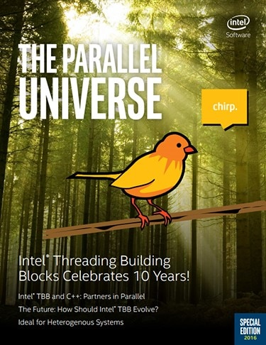 cover of Parallel Universe magazine -bird on it