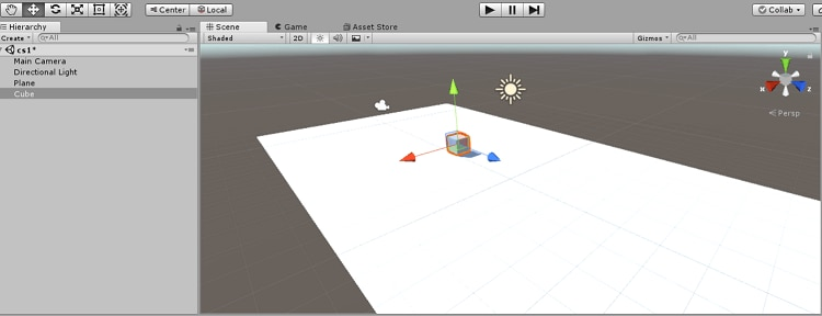 unity software interface