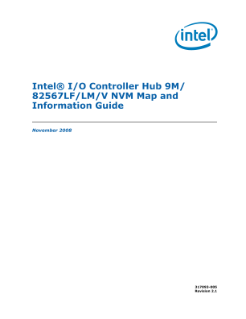 Intel® I/O Controller Hub 9M/82567LF/LM/V NVM:  Map and Guide