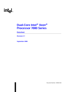 Dual-Core Intel® Xeon® Processor 7000 Series Datasheet