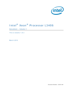 Intel® Xeon® Processor L3406 Datasheet Volume 1