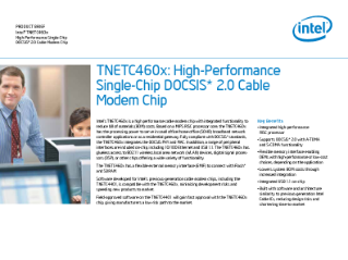 Intel® TNETC 460x  Cable Modem Chip product brief