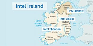 Intel Ireland Map