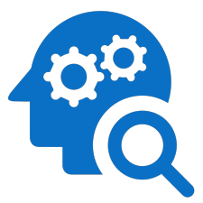 Head with gears in it icon