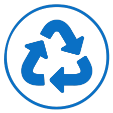 Blue recycle icon