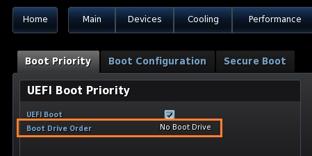 Boot Drive Order