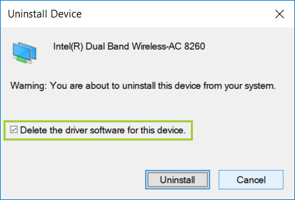 Uninstalling the Wi FiBluetooth® Driver for Your Intel