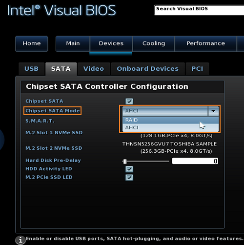 RAID Setup Procedure for Intel® NUC Kits
