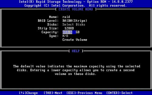 RAID Setup Procedure for Intel® NUC Kits