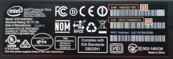 Intel® Compute Stick STK1AW32SC