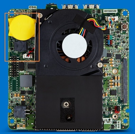 CMOS Battery on the Intel® NUC