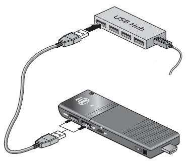 using USB hub