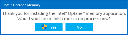 Intel® Optane™ memory window