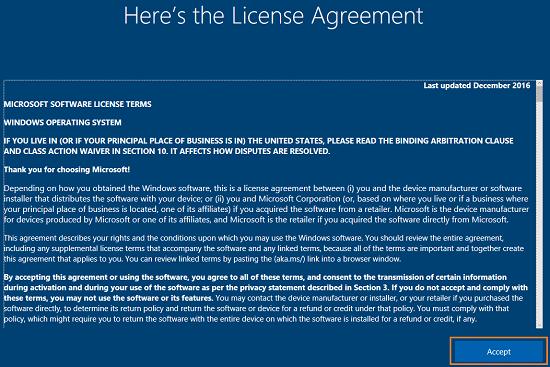 windows home license agreement