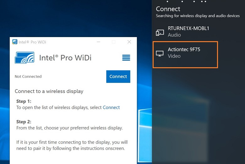 Connect Windows® 10* with Intel® WiDi