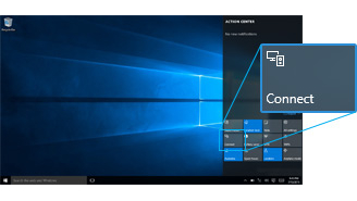 how to connect a display on windows 10