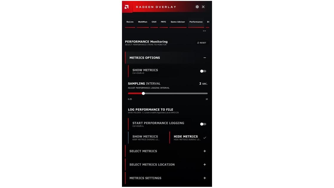 Using Radeon™ Overlay to Adjust Gaming and Visual Settings