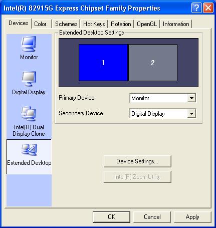 Extended desktop