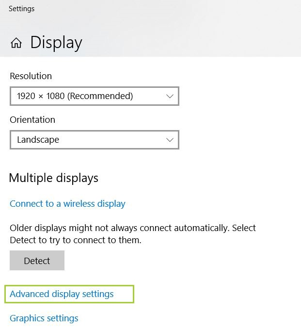 Windows 10 Intel Display Driver