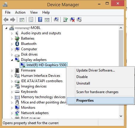 intel hd graphics driver 5500