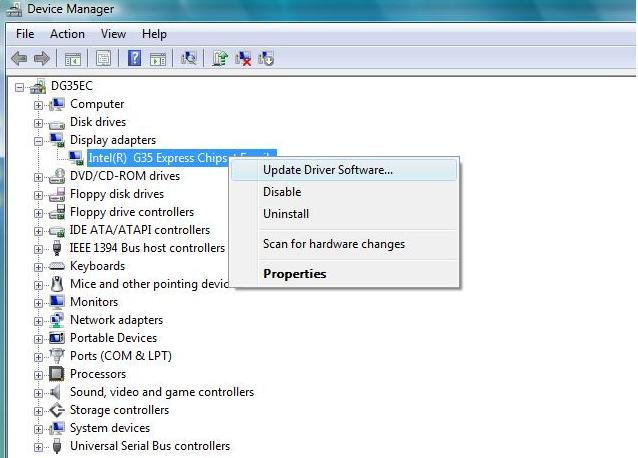 click Update driver software