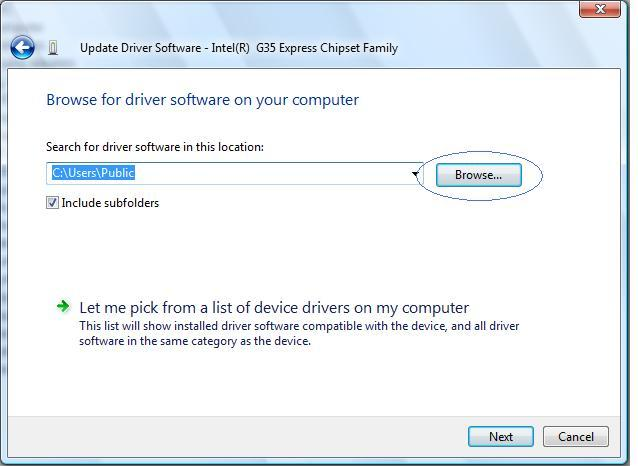 find extracted driver files