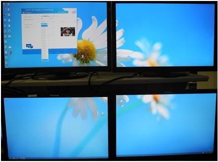 Vertical collage with external DisplayPort splitter