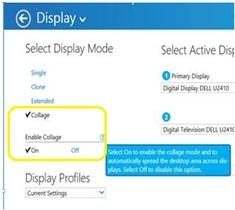 display mode option