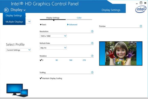 Intel® Graphics Control Panel