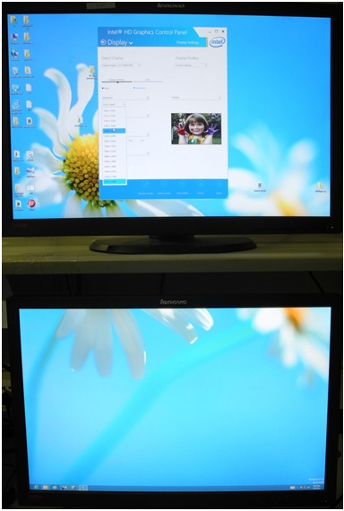 Collage Display vertical Mode