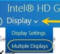 Display drop-down menu