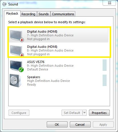 intel high definition audio not working after windows update